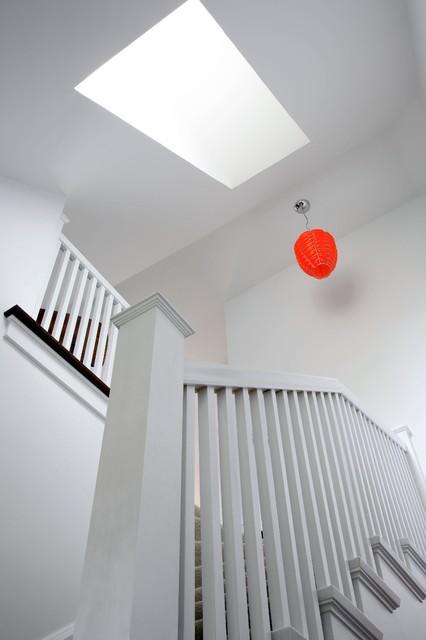 European Cottage contemporary-staircase