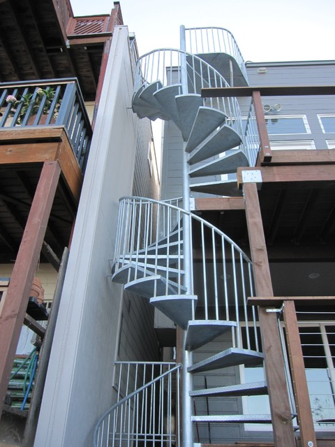 Superieur Exterior Spiral Staircase Industrial Staircase
