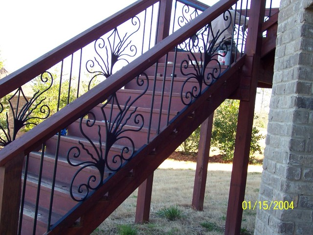 Marvelous Exterior Wrought Iron Handrail / Railing Mediterranean Staircase