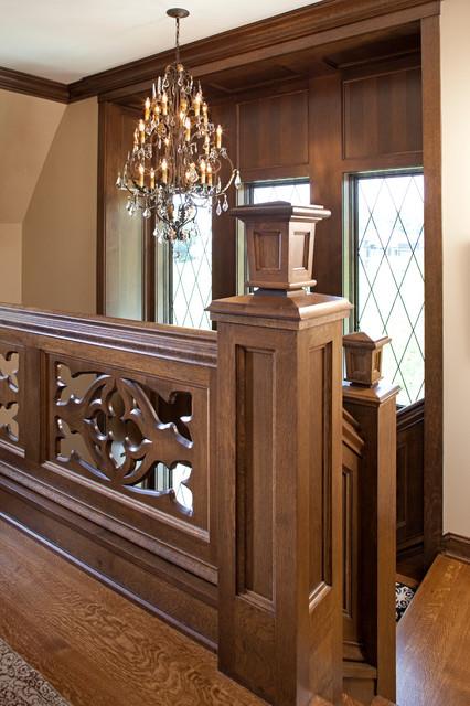 Fairytale Tudor Traditional Staircase Minneapolis