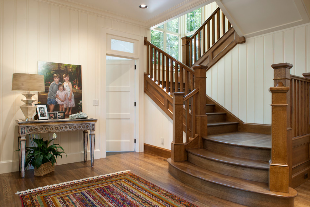 Elegant wooden staircase photo in Other