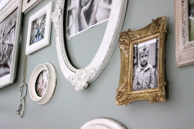 family photo wall eclectic-staircase