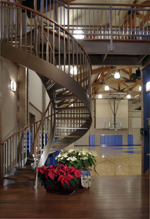 Family Recreation Building Stairs Traditional