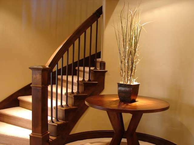 Family Room Table Amp Railing Contemporary Staircase