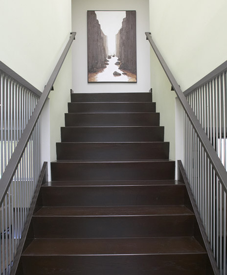 Contemporary staircase wall decor : Feldman architecture