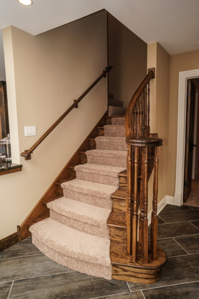 Finished Luxury Basement In Naperville - Rustic - Staircase - chicago ...