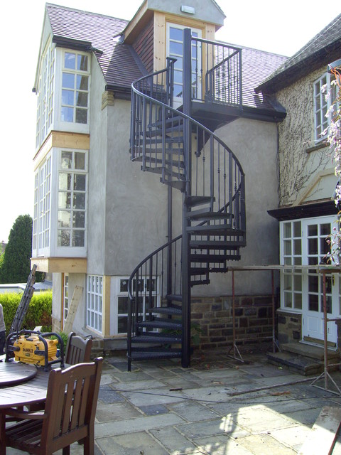 Fire escapes traditional staircase other metro by - Stairs to second floor design ...