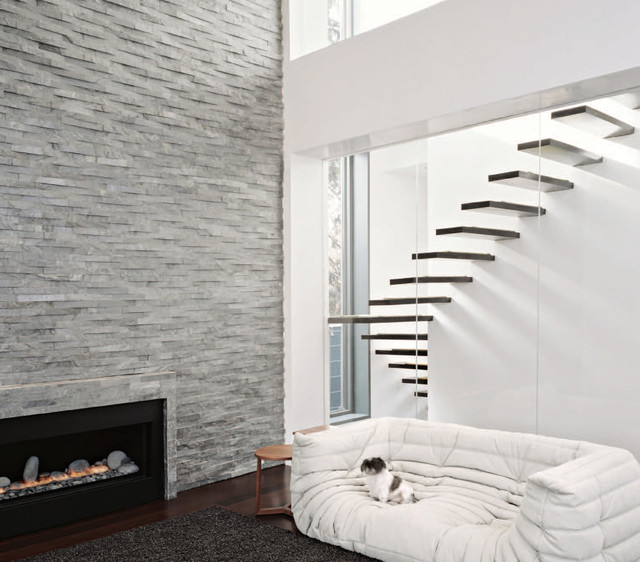 Fireplaces Modern Staircase San Francisco By