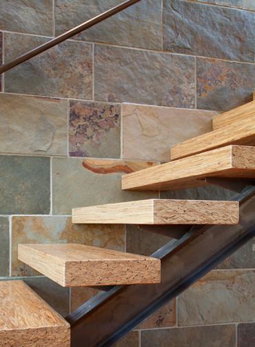 Fitzsimons-Roman Residence contemporary-staircase