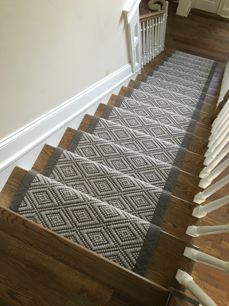 Flat-weave Wool Stair Runner with Wide