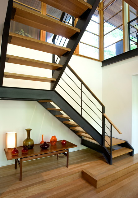 Floating staircase modern staircase philadelphia Floating stairs