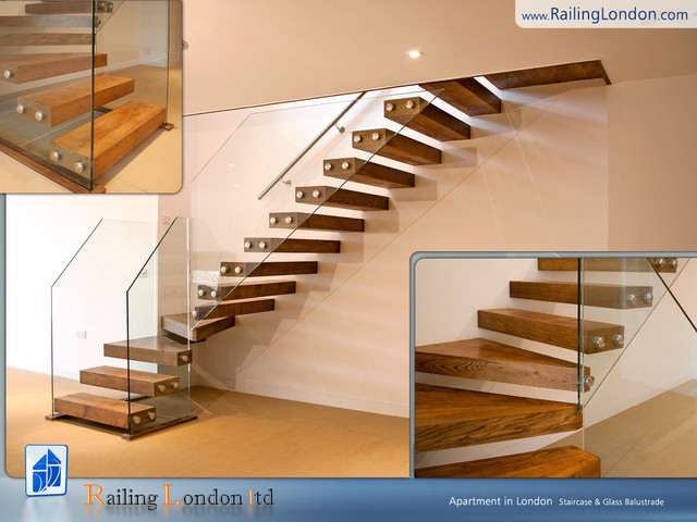 Floating Staircases Modern Staircase London By