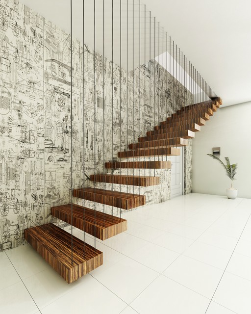 Nice Floating Stairs By Finesse Contemporary Staircase