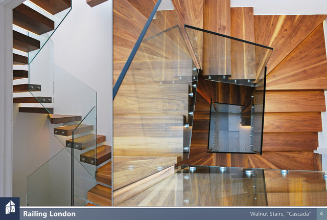 Floating stairs contemporary staircase london by for Free floating stairs