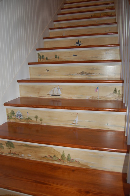 Floor amp stairs murals traditional staircase