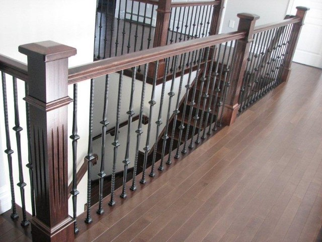 Fluted Box Newels Amp Metal Balusters Stairway