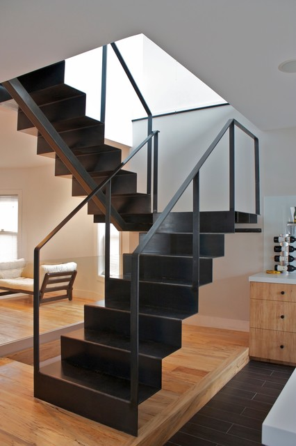 FOLD STAIR Modern Staircase Chicago By Iron Wire LLC