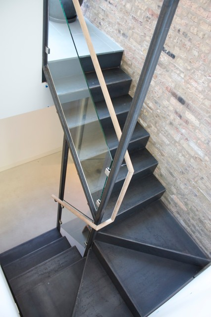 Folded Steel Stair Modern Staircase Chicago By