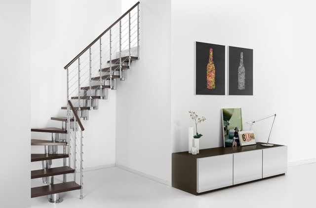 Fontanot Pixima Long Line Winder Staircases contemporary-staircase