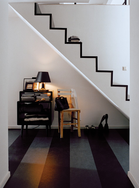 forbo marmoleum click natural linoleum flooring contemporary staircase chicago by. Black Bedroom Furniture Sets. Home Design Ideas