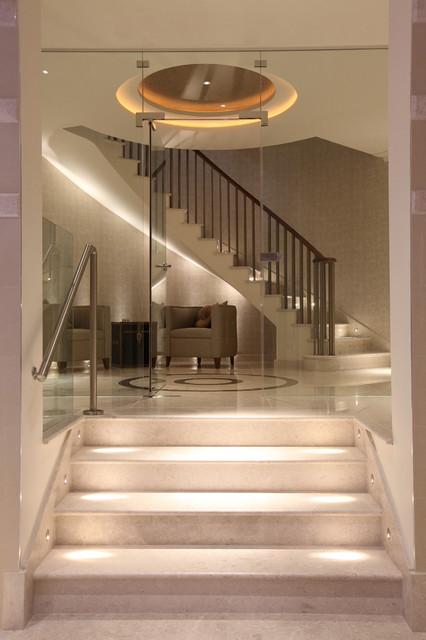 Contemporary Foyer Uk : Foyer sqft private residence radlett
