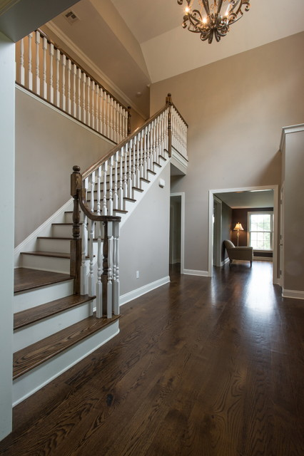 Foyer Staircase Questions : Foyer and custom oak stairs traditional staircase