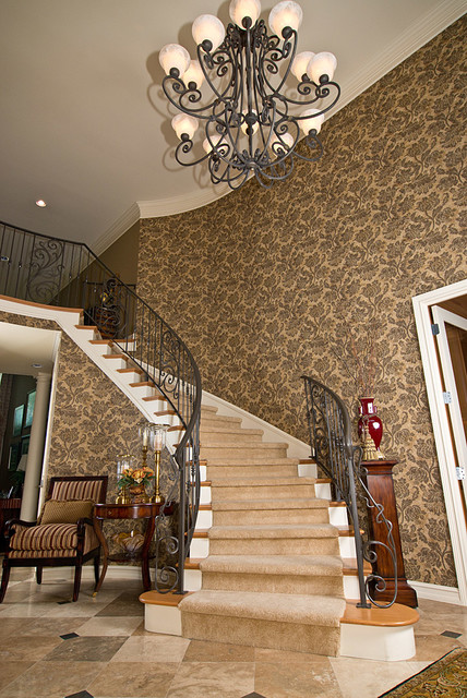 Foyer Staircase Photos : Foyer stairs traditional staircase detroit by