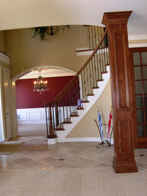 Houzz Foyer Stairs : Foyer stairs traditional staircase detroit by