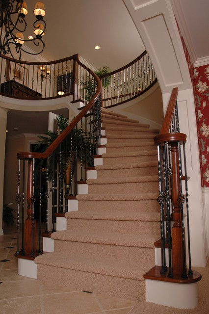 Traditional Foyer Questions : Foyer stairs traditional staircase detroit by