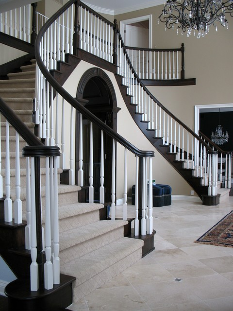 Foyer Stairs Jobs : Foyer stairs traditional staircase detroit by
