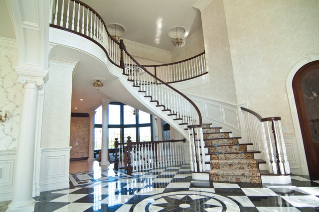 Foyer Staircase Uk : Foyer stairs traditional staircase detroit by