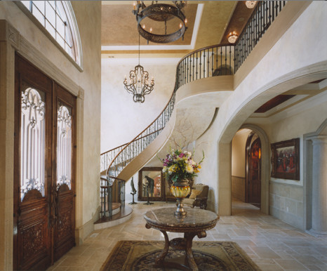 Tuscan Staircase Design : Foyer Stairway Staircase By The Studio Of  Christopher Phelps