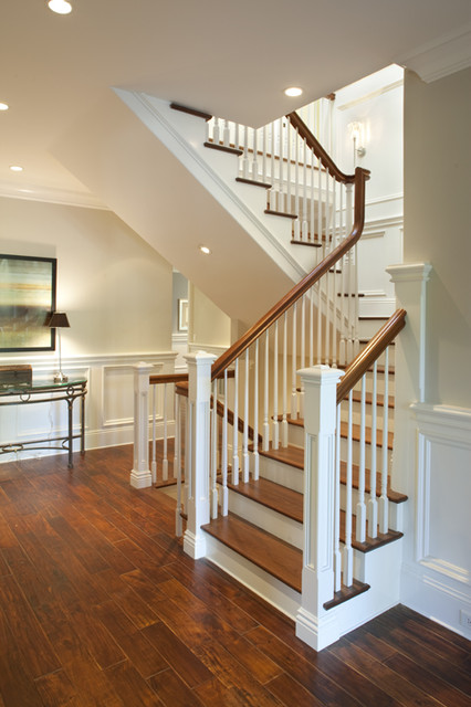 Foyer traditional staircase san francisco by arch for House plans with stairs in foyer