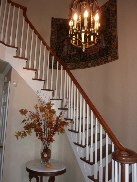 Traditional Foyer Chandeliers : Foyer chandelier traditional staircase nashville