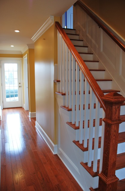 Foyer Staircase Uk : Foyer facelift traditional staircase newark by