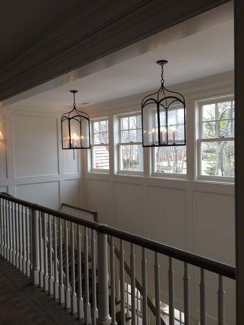 Foyer Staircase Lighting : Foyer hallway lighting transitional staircase