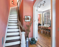 Foyer, Historic Townhouse, Brooklyn, New York traditional-staircase