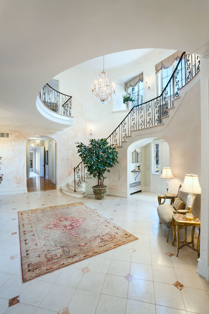 Old House Foyer : Foyer mansion old greenwich new york traditional staircase