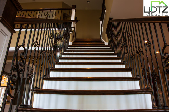 Foyer Painting | Staircase Staining | Naperville Remodeling Contractor Lotz traditional-staircase