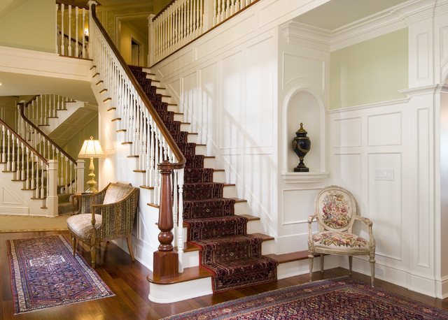 traditional staircase by Sara Hopkins