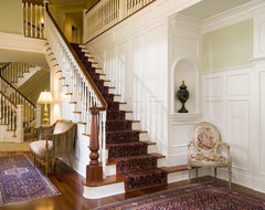Foyer traditional staircase