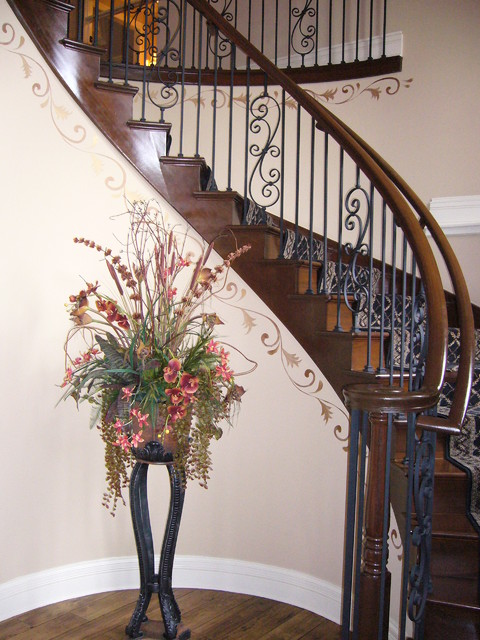 Foyer Staircase Questions : Foyer scrollwork traditional staircase chicago by