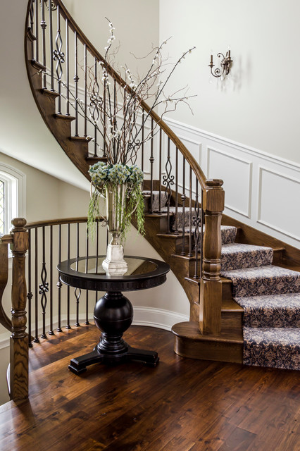 Traditional Foyer Questions : Foyer stairs