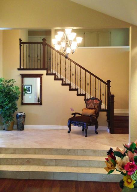 Traditional Foyer Uk : Foyer stairway traditional staircase sacramento
