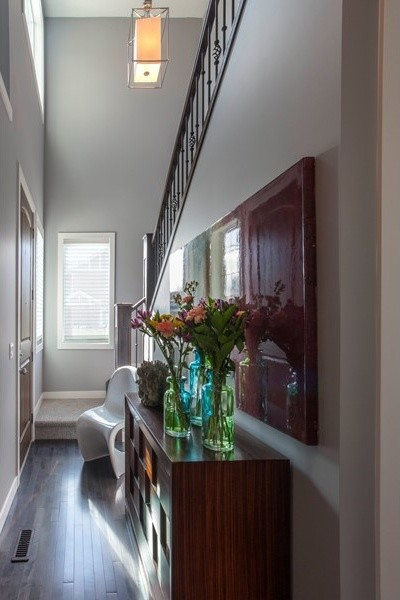 Modern Foyer Houzz : Foyer stairway lighting modern staircase calgary