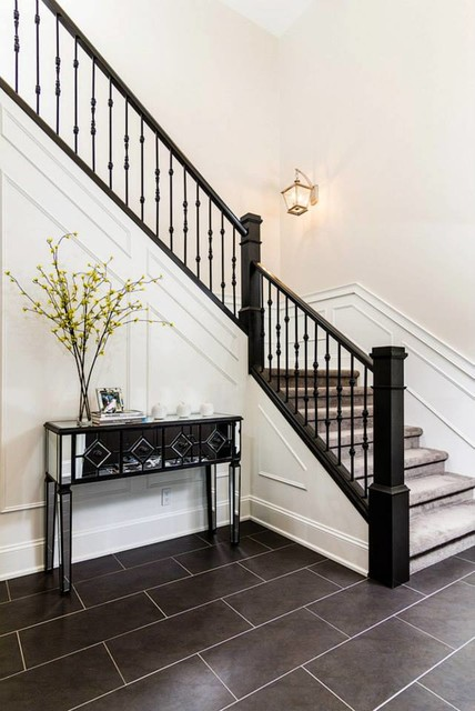 Foyer Staircase Questions : Foyer contemporary staircase other by dowalt