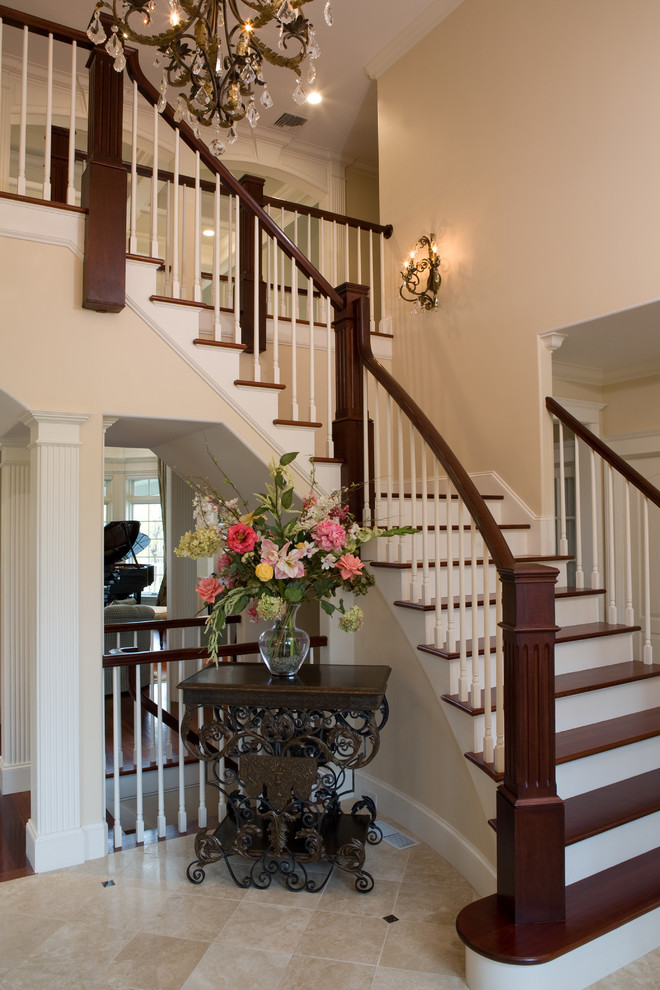 Example of a trendy staircase design in Boston