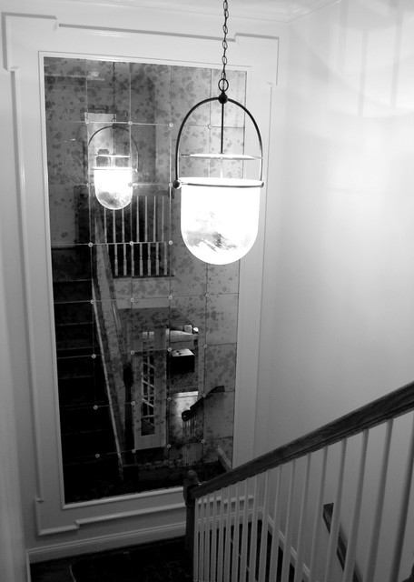 Framed Wall Mirror Traditional Staircase Richmond