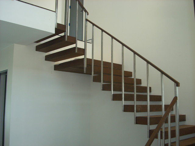 Free Standing Straight Stair modern-staircase