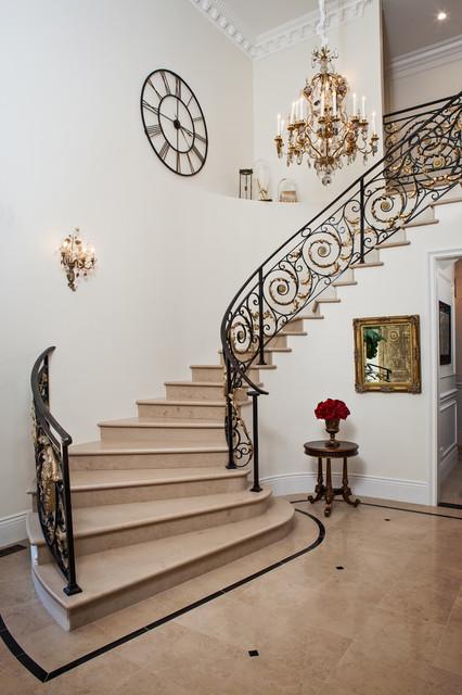 French Chateau - Atheron mediterranean-staircase